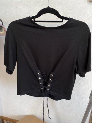 Zara Trafaluc Camicia cropped nero-argento