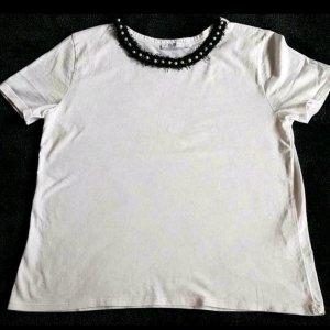 RICH/&ROYAL cooles oversized Shirt Face Print weiß Gr M  NEU