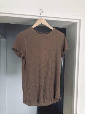 Zara Boatneck Shirt light brown-black