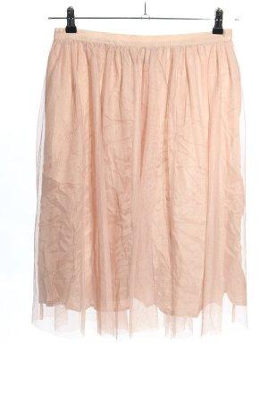 Zara Tiulowa spódnica nude W stylu casual