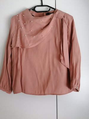 Zara Tunika Bluse Perlen XS 34
