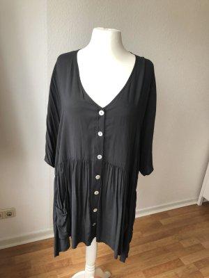 Zara Blusa de túnica gris oscuro-gris antracita