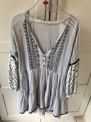 Zara Hippie Dress white-black