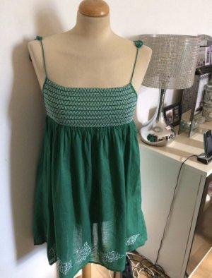 Zara Babydoll-jurk wit-groen