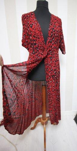 Zara Camisa larga negro-rojo oscuro