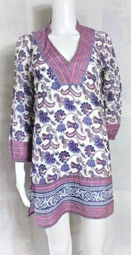 Zara Tunika/Minikleid / Blumenprint / 100%Baumwolle/Lila-Blau-Weiss/Gr. S/wie NEU!