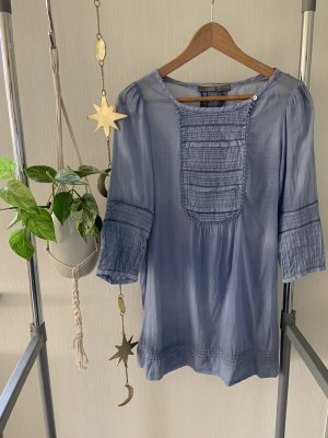 Zara Tunic Dress azure-steel blue