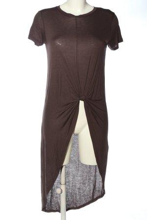 Zara Longshirt braun Casual-Look