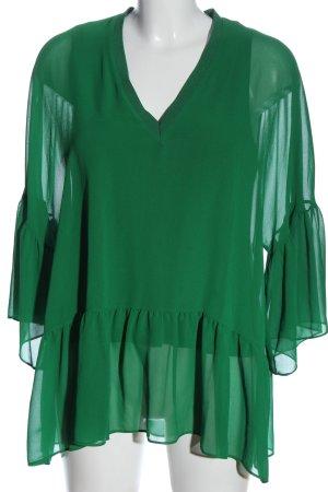 Zara Tunikabluse grün Business-Look