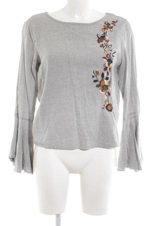 Zara Tunikabluse Blumenmuster Casual-Look