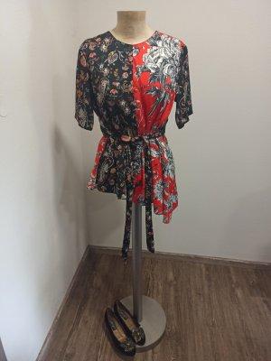 Zara Tunikabluse Floral Paisley Asien Gr. S M