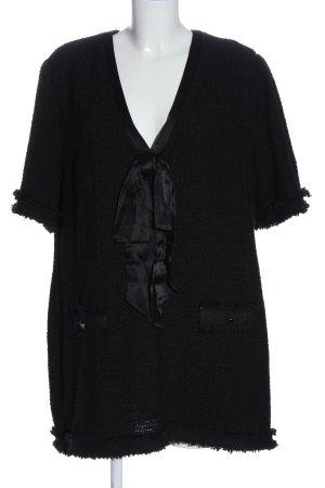 Zara Vestido tipo túnica negro look casual