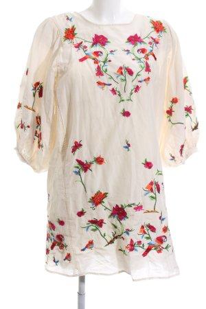 Zara Tunikakleid Blumenmuster Casual-Look