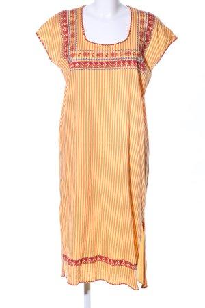 Zara Robe tunique orange clair-rouge motif rayé style décontracté