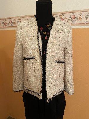 Zara Blazer en tweed blanc cassé