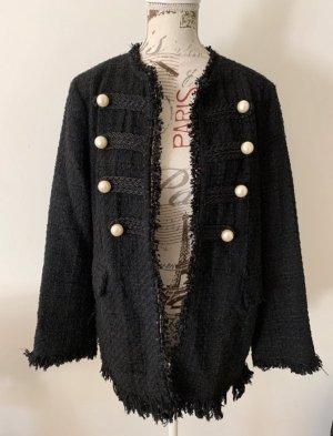 Zara Blazer en tweed noir