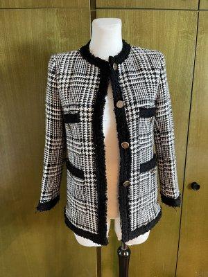 Zara Tweed Blazer black-white