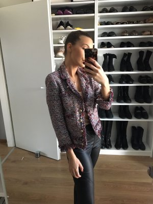 Zara Tweed Jacke im Chanel Stil