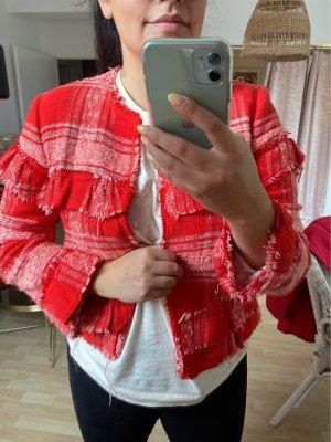 Zara tweed Jacke rot M