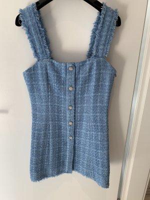 Zara Tweed Kleid Hellblau
