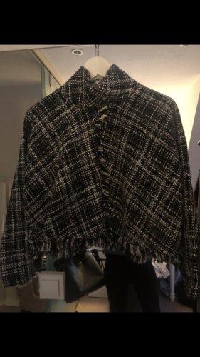 Zara Jersey kimono negro-blanco