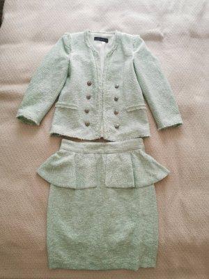 Zara Tweed Blazer sage green