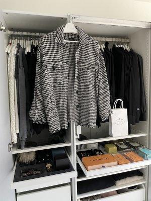 Zara Tweed Shacket Hemd Jacke