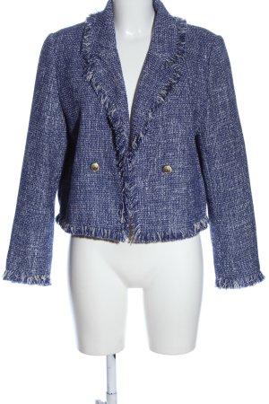 Zara Tweed Blazer blue-natural white flecked casual look