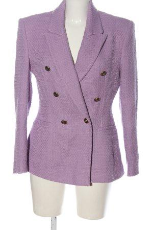 Zara Tweed blazer lila zakelijke stijl