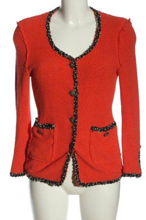 Zara Blazer in tweed arancione chiaro stile professionale