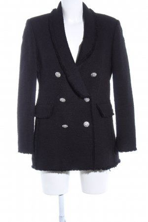 Zara Blazer Tweed negro estilo «business»