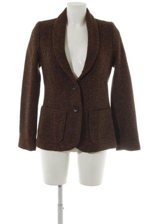 Zara Tweed Blazer dark brown-brown casual look