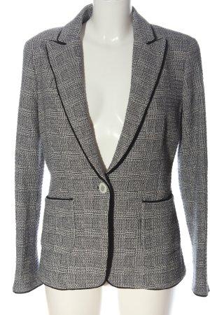 Zara Tweedblazer weiß-schwarz meliert Casual-Look
