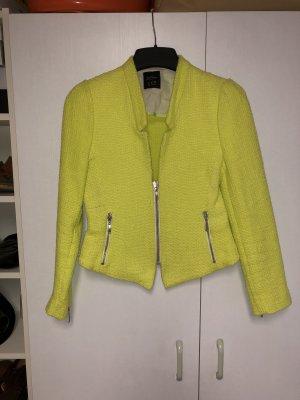 Zara Tweedblazer Neongelb L