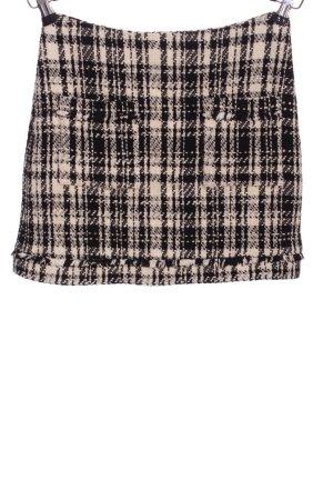 Zara Tweedowa spódnica czarny-w kolorze białej wełny Wzór w kratkę