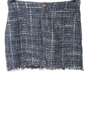 Zara Tweed Skirt check pattern casual look