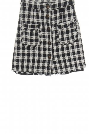 Zara Jupe en tweed noir-blanc imprimé allover style décontracté