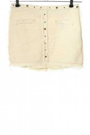 Zara Tweed Skirt cream casual look