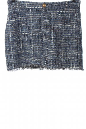 Zara Tweedowa spódnica Wzór w kratkę W stylu casual