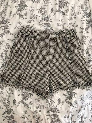 Zara High waist short zwart-wit