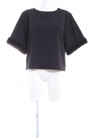 Zara U-Boot-Shirt schwarz Business-Look