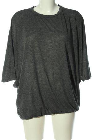 Zara U-Boot-Shirt hellgrau meliert Casual-Look