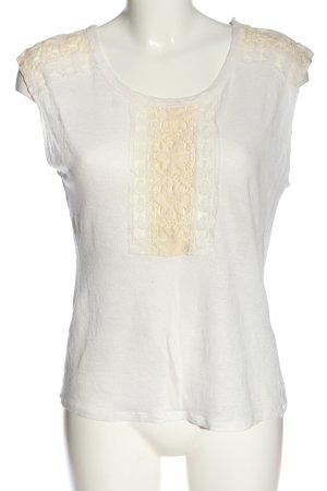 Zara Strickshirt weiß-creme Casual-Look