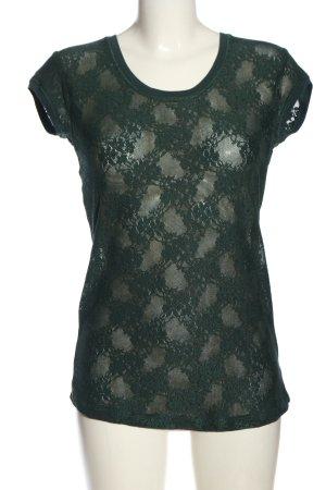 Zara U-Boot-Shirt grün Casual-Look