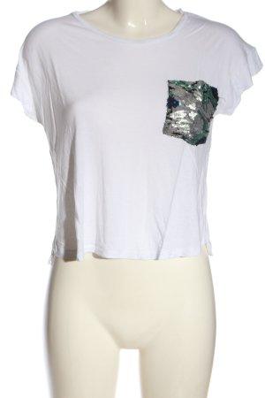 Zara Cropped Shirt weiß Casual-Look