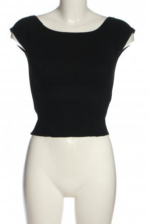 Zara Boatneck Shirt black casual look