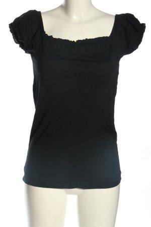 Zara Koszula typu carmen czarny W stylu casual