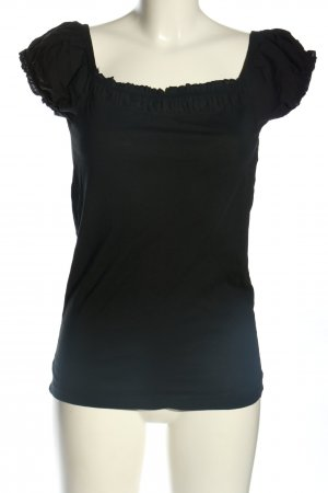 Zara Camisa tipo Carmen negro look casual