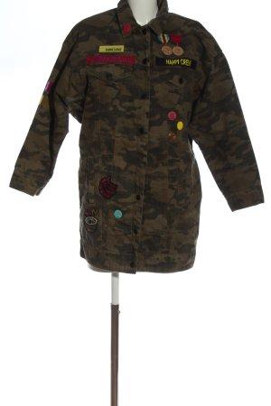 Zara Übergangsjacke wollweiß-khaki Camouflagemuster extravaganter Stil