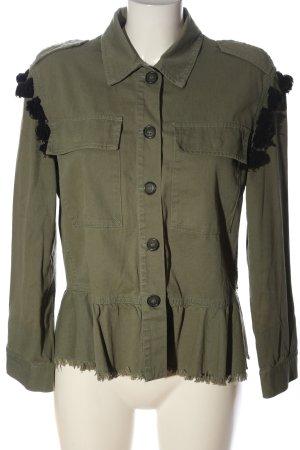 Zara Übergangsjacke khaki Casual-Look